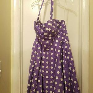 Purple Traveling Cupcake Dress, 1x